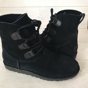 UGG Eivi Suede Lace Boot Black
